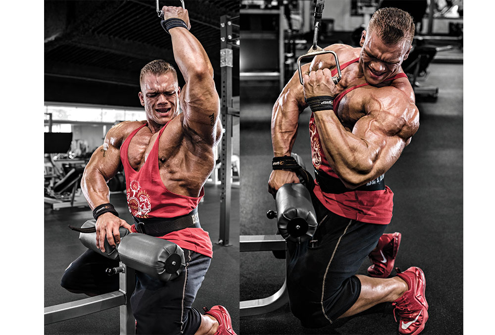 one arm lat pull